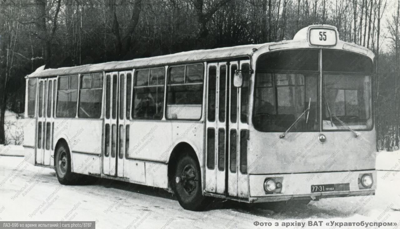 ЛАЗ-696 во время испытаний